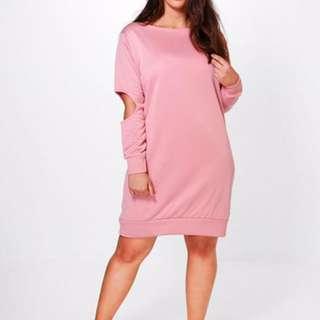 Pink Sweat Dress
