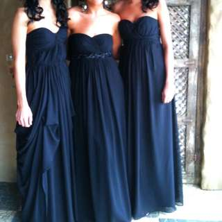 Bridesmaid Chiffon Style Dress on the right side