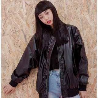 全新x.o.x.o.街頭風格暗黑皮質寬鬆外套#轉轉來交換