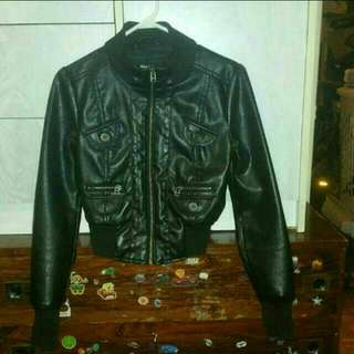 Leather Jacket Size Small To xs