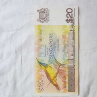 $20 Old Sg Money