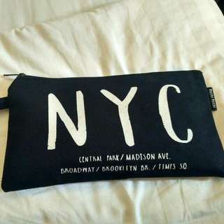 NYC Canvas Pouch