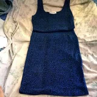 Range Paris Leopard Blue Dress