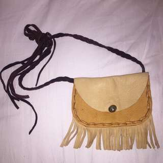 Handmade Freepeople Doeskin Hip Pouch