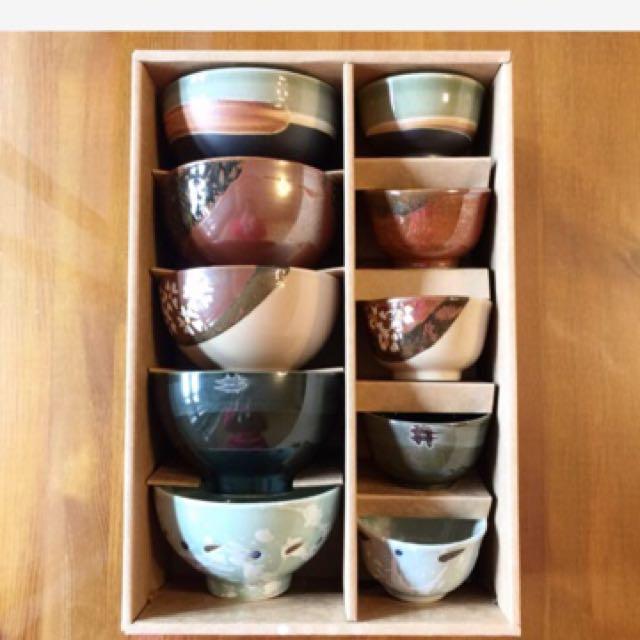 日式窯燒碗組10件