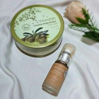 Wardah Body Butter & Exclusive Foundation