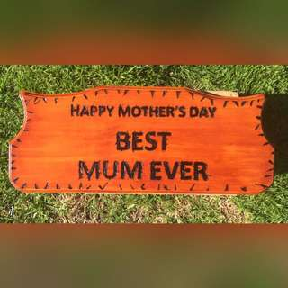 Hand Made Mothers Say Plaque!
