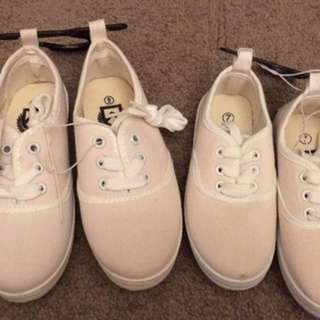 White Canvas Shoes