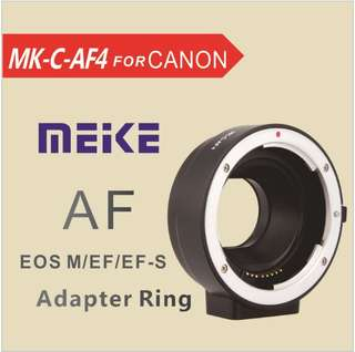Meike Electronic Auto Focus Adapter Canon EF EFS to EOS M EFM mount