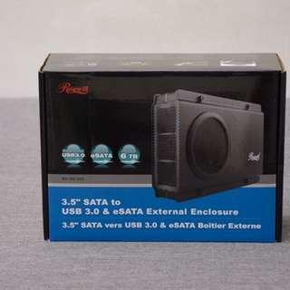 "SALE: UNUSED BNew Rosewill 3.5"" SATA USB3 & eSATA External Enclosure with Fan"
