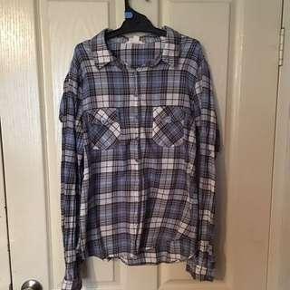 Blue Button Up Shirt