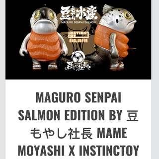 MAGURO SENPAI SALMON EDITION BY 豆もやし社長 MAME MOYASHI X INSTINCTOY EXCLUSIVE #UOBPayNow
