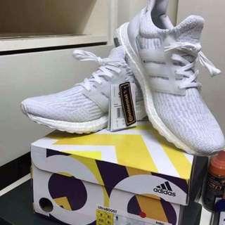 Adidas Ultraboost V3 Triple White Size 9us
