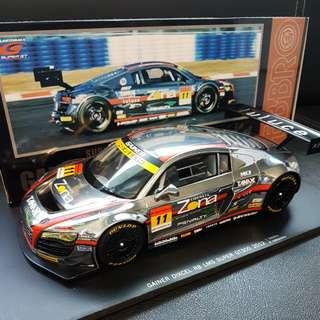 1/18 Ebbro Audi R8 LMS Gainer Dixcel Super GT300