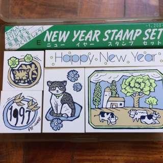 Happy New Year Stamp Set