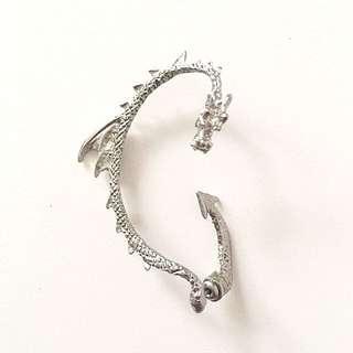 Silver Dragon Ear Cuff