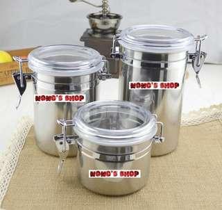 🚚 [Nono] 不銹鋼 大密封罐 咖啡豆 存儲罐 奶粉罐 茶葉 零食 乾果 儲物罐 保鮮 防潮