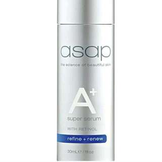 ASAP Super A+ Serum New 30ml RRP $89 Authorise Stockists