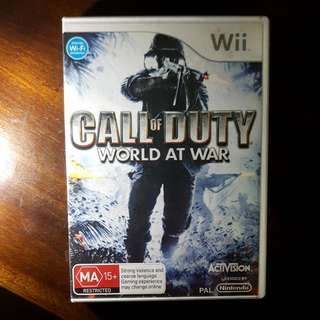 Call Of Duty - World At War Wii Game
