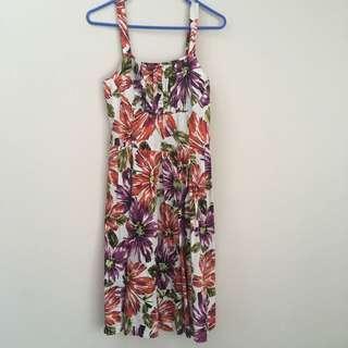 Basque Floral Dress (Size 6)