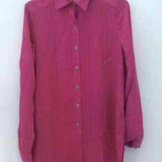 Long Sleeve Fuchia Shirt