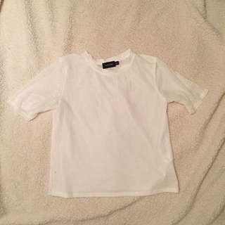 Mink Pink White Mesh Shirt