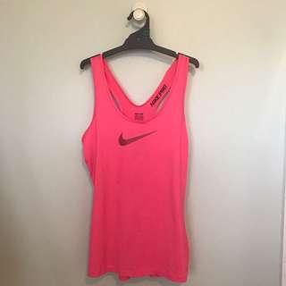 Pink Nike Pro Running Singlet