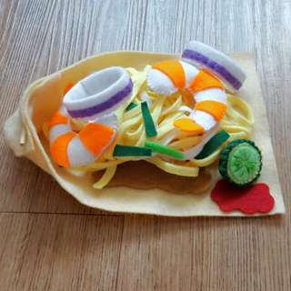 Pretend Play Felt Food- Local food for Chinese Hokkien Mee (Made-to-order)