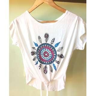 White Boho Shirt Brandnew