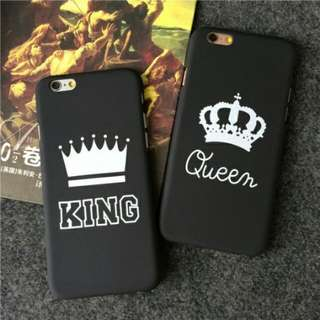 King & Queen Couples Phone Case Pack