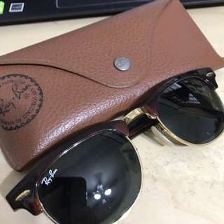 Ray Ban Clubmaster RB2156 990 Polarized Sunglasses