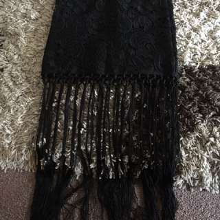 Black Skirt With Dangly String