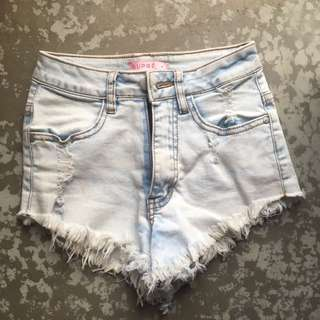 Denim Ripped Shorts ( Supre Size 4)