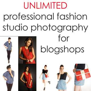 UNLIMITED Professional Blogshop Fashion Studio Photography (Weekends ONLY)