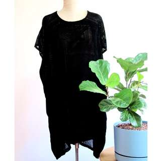 $60 Evil Twin Black Velvet Dress