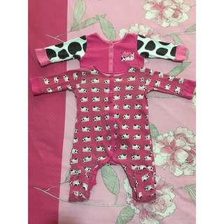 Moo Mothercare Sleepsuits Onesies for 6-9m, 9-12m