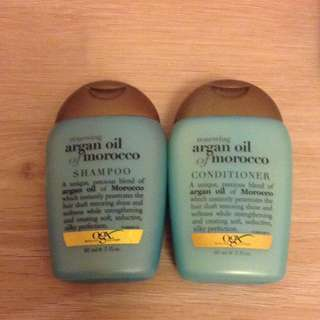 OGX Renewing Argan Oil Shampoo And Conditioner