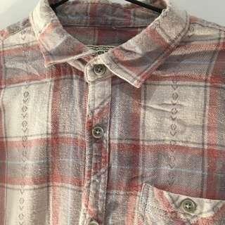 Unique vintage flannel size medium red