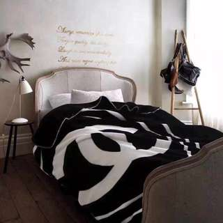 Chanel Fleece Logo Blanket