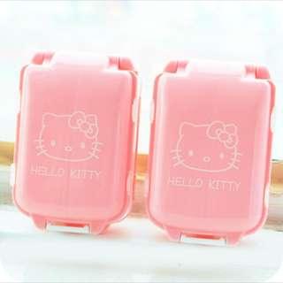 🚚 Hello Kitty可折疊三段式藥盒