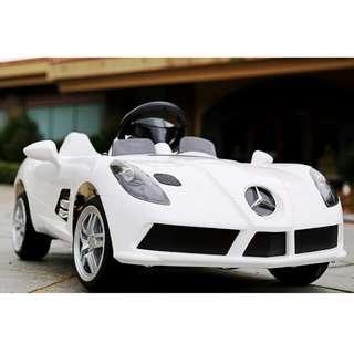 12V Electric Children car Mercedes Benz SLS white