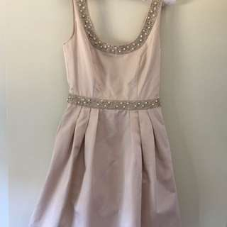 Forever New Beige Dress - Size 6