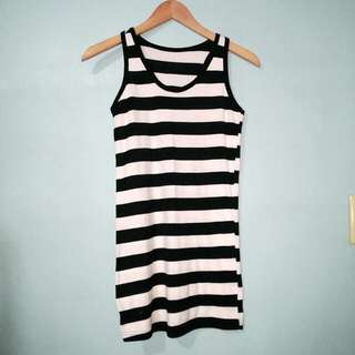 B&W Striped Tank Top