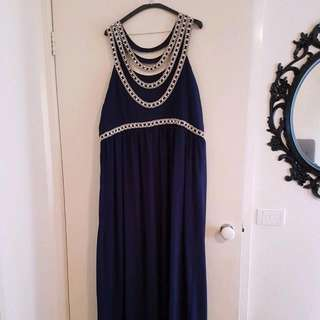 Plus Size Formal Embellished Maxi Dress