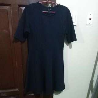 REPRICED!!! COTTON ON textured fit and flare dress (navy blue)