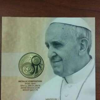 Pope Francis 50 Piso Commemorative Coin
