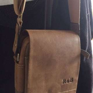 R & B Brown Shoulder Purse