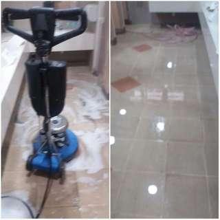 Floor scrbbing