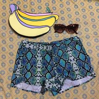 Balenciaga Snakeskin Printed Shorts (BCBGMAXAZRIA)