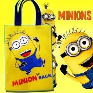 Goodie Bag Tas Belanja Minion Wadah Ulang Tahun Papoy Minions Disney Unik Happy Birthday Party Karakter Animasi Fantasy Kuning Murah